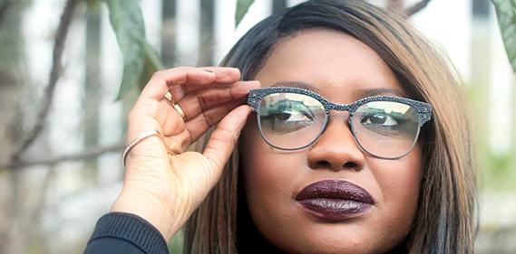 lucas de stael lunettes cuir vivarium galuchat Une
