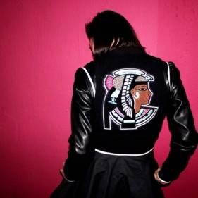 melody ehsani reebok valentines day  varsity jacket