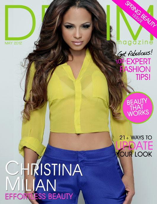 "milian_denim_magazine_cover Christina Milian en couv' de Denim Magazine : ""The Spring Beauty Issue"""