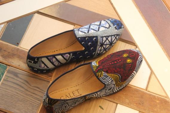 mocassin-slippers-wax-galet-vlisco_01 Les mocassins Maison Galet se parent de wax Vlisco