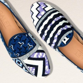 mocassin slippers wax galet vlisco boutique odeon denim
