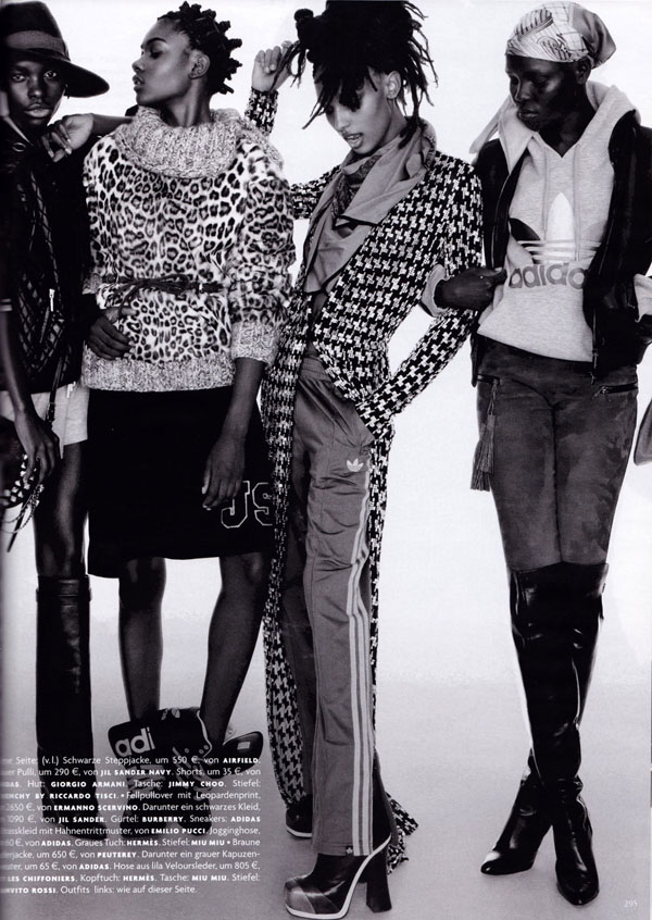 models_Vogue_Germany_September_2012-03 Cora Emmanuel, Grace Bol, Grace Mahary, Jasmine Tookes, Jeneil Williams & Zuri Tibby pour Vogue Germany Septembre 2012