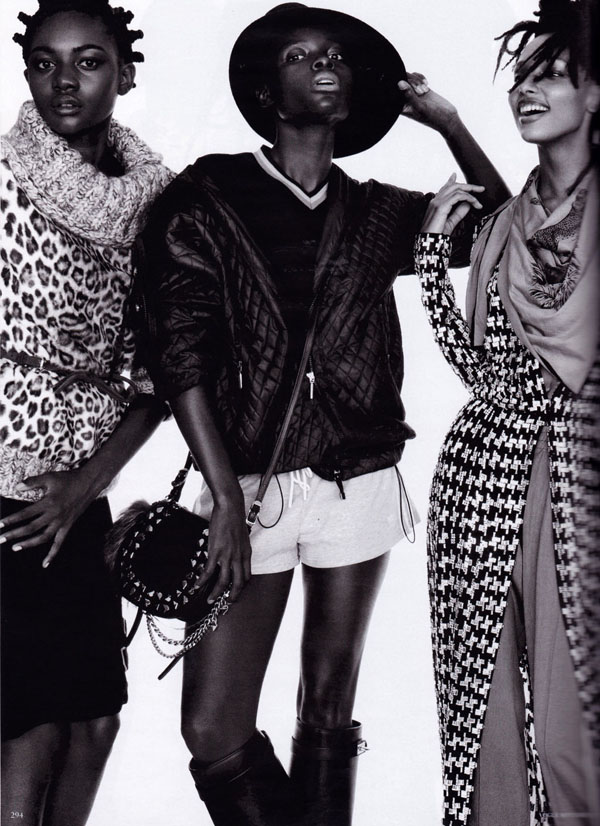 models_Vogue_Germany_September_2012-04 Cora Emmanuel, Grace Bol, Grace Mahary, Jasmine Tookes, Jeneil Williams & Zuri Tibby pour Vogue Germany Septembre 2012