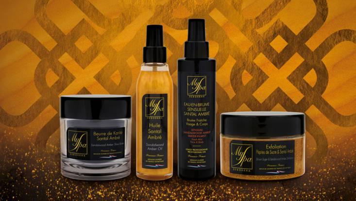 myspa soins corps naturel santal ambre voyage luxe dubai