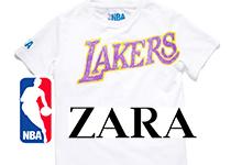 Collection exclusive de T-shirts NBA et ZARA