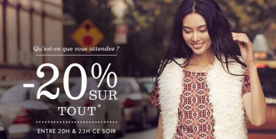 newlook_bonplan_shopping Bon Plan New Look : -20% sur l'eshop ce soir pendant 3 heures