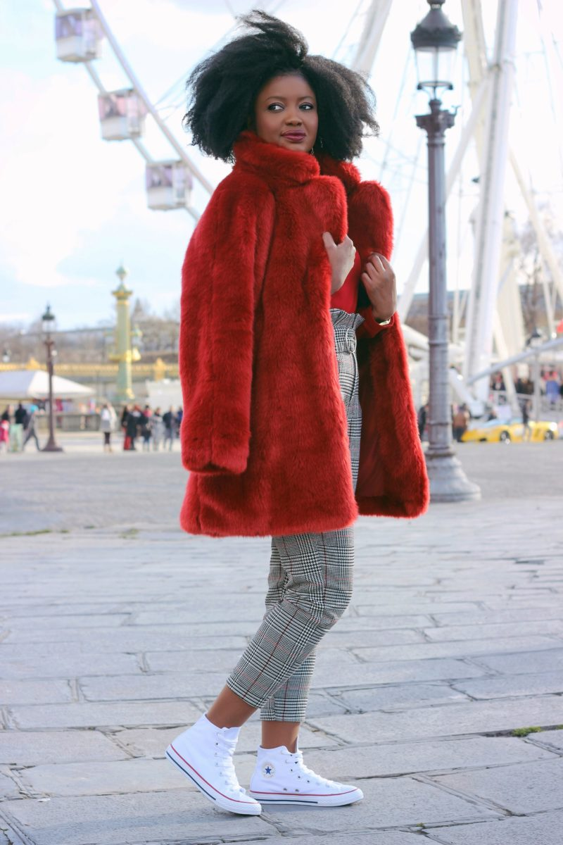 pantalon carotte saint valentin rouge paris