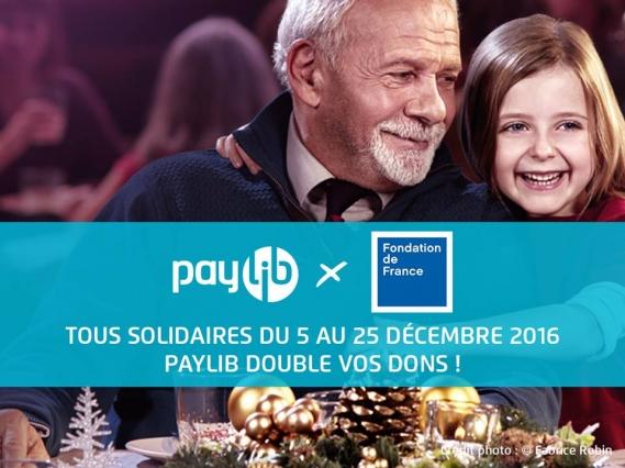 paylib-double-dons-fondation-de-france-noel-humanitaire-philanthropie Pour Noël, Paylib double vos dons sur Fondationdefrance.org