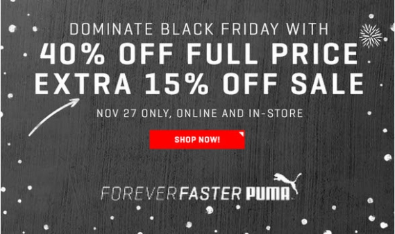 puma-black-friday Bons Plans Shopping spécial Cyber Weekend