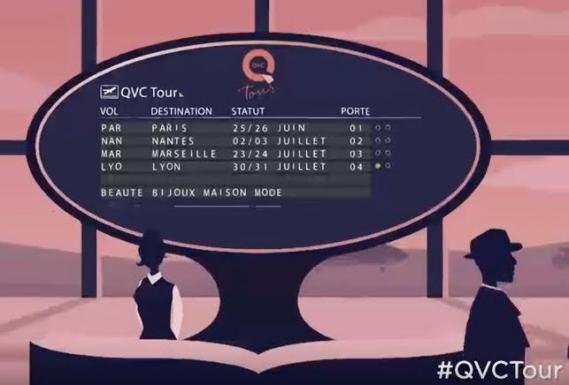 qvc-tour-carte-france-tableau-2016 QVC Tour vous invite à son festival shopping inédit en France