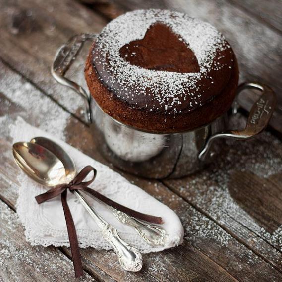 recette-chocolat-saint-valentin-coup-de-foudre Recette dessert Saint-Valentin : Coup de foudre au chocolat