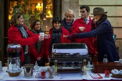 rendez vous du coeur Cafe de La Paix ines de la fressange
