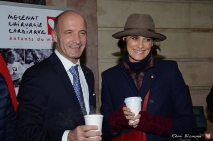 rendez vous du coeur Cafe de La Paix ines de la fressange GOUTER NOEL