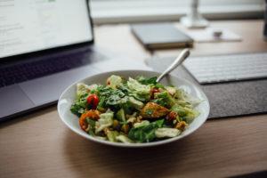 repas salade healthy bureau programme prolon