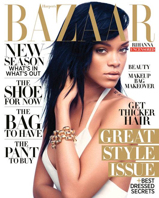 rihanna-harpers-us-1 Rihanna en couv' d'Harper's Bazaar US par Camilla Akrans