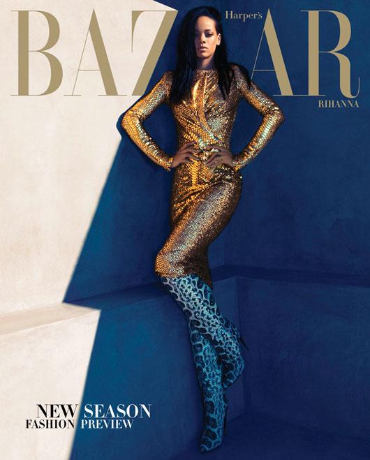 rihanna-harpers-us-2 Rihanna en couv' d'Harper's Bazaar US par Camilla Akrans