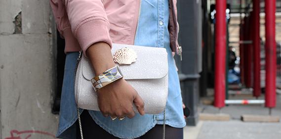 rose josephine sac bomber rose stradivarius freywille bracelet Une