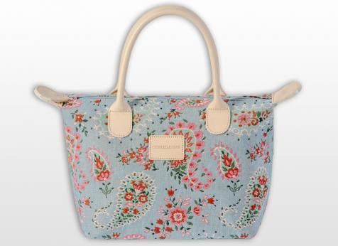 sac a main bagage bleu vintage pierre et la louve