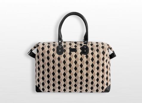 sac a main bagage noir blanc pierre et la louve