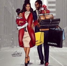 shopping illustration peniel enchill