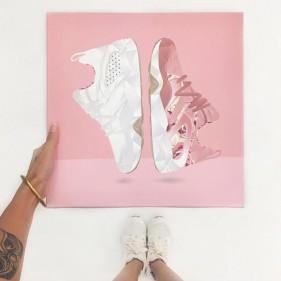 sneakers Puma Careaux summer  illustration