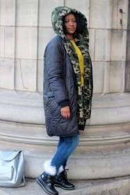sorel joan of artic fur boots forever  teddy bear coat camouflage walking on a cloud