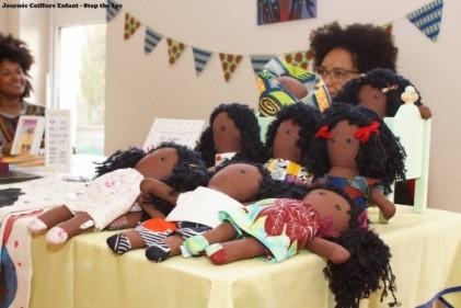 stop the lye cheveux afro enfants paris poupee noire