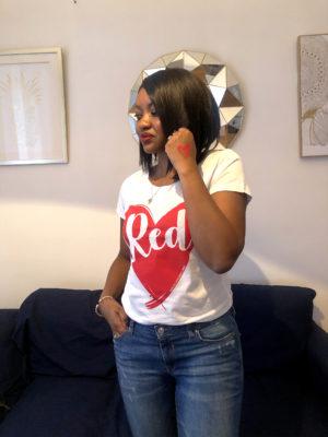 t shirt red lexception sauvez le coeur des femmes 1