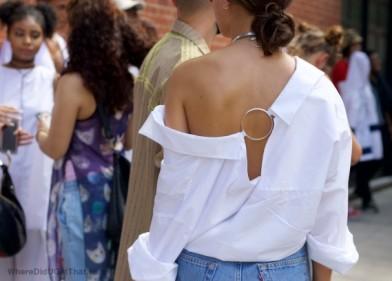 tendance chemises printemps volant epaules off the shoulders