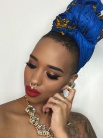 tendance mode piercing septum turban