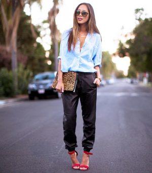 tendance pantalon jogging sweatpants talons