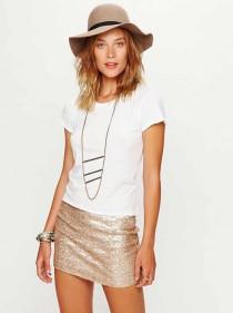 timodelle tshirt basique sequins skirt