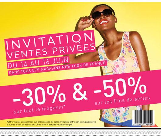 timodellevpnewlook Ventes Privées New Look : Imprimez vite votre invitation Timodelle !