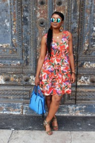 tropical chic dress