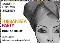 Turbanista Party à la Make Up For Ever Academy