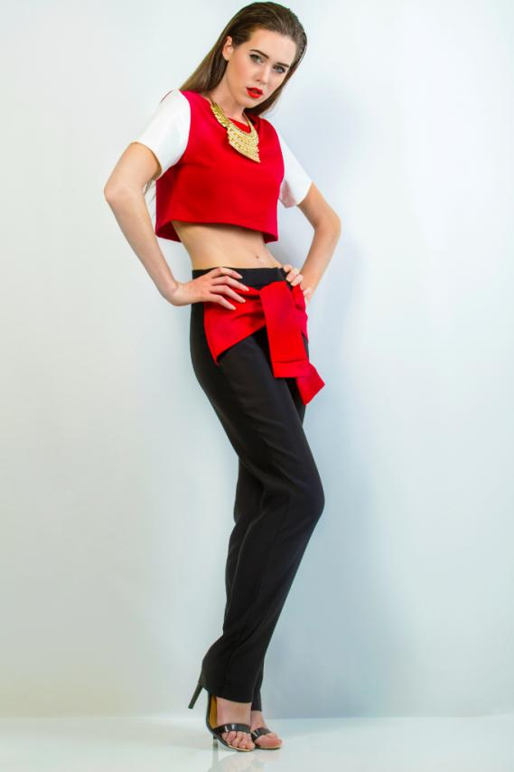 uzuri couture Crop top Jade Trouser Knottie